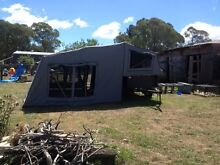 Camper / 7x4 high side trailer. Swap for sm 4x4 Ebor Guyra Area Preview