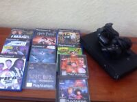 Black PS2 and Games