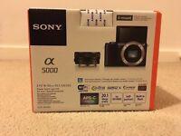 Black Sony Alpha 5000 Digital Camera New & Sealed
