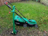 Qualcast Corded Rotary Mower 1300W and Grass Trimmer 320W