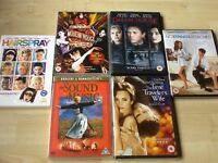 6 DVDs more suited for the ladies, all excellent condition