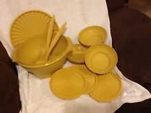 Tupperware Large Servalier Bowl, Salad Servers, Cereal Bowls Rothwell Redcliffe Area Preview