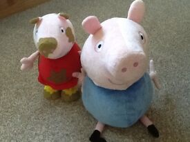 Peppa Pig Muddy Puddles and talking George soft toy