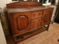 Beautiful solid oak sideboard - perfect shabby chic project