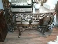 Stunning Marble Top Console Table