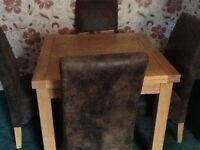 Hardwood table carpenter manufactured