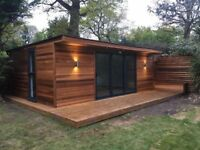 GARDEN BUILDING, STUDIO, GRANY ANEX, GARDEN OFFICE, SHED, LOG CABIN - ALL CUSTOM MADE AND NO WAITING
