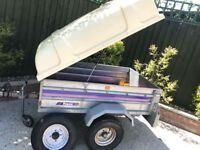Larger Franc tipping trailer + hardtop/spare wheel