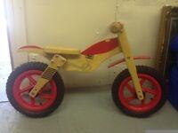 Kids Wooden Balance Bike Motor Bike Style Age 2 - 5