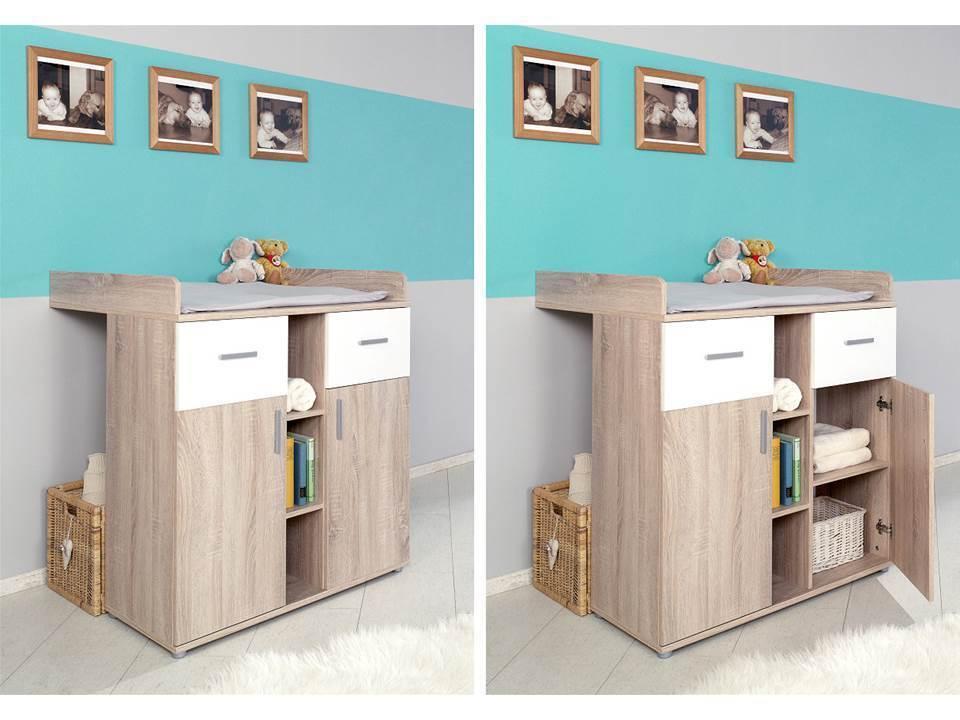 babyzimmer kinderzimmer komplett set babym bel komplettset umbaubar elisa 3 eur 449 00. Black Bedroom Furniture Sets. Home Design Ideas