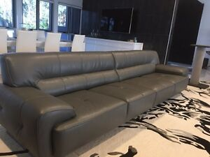 Leather Lounge 4 seater 2 arm chairs Chandler Brisbane South East Preview