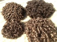Four Brown Irish Dance Wigs