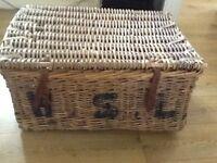 Large old basket used in war for artillery transport.