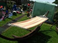 Wooden banana hammock