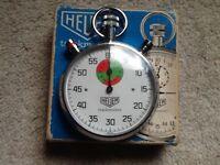 Original chromed Heuer stopwatch
