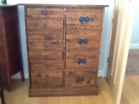 Laura Ashley Garrat Chestnut chest of drawers