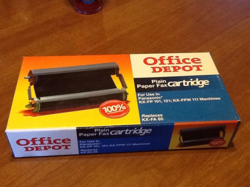 Office Depot Paper Fax Cartridge KX-FA65