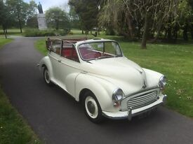 MORRIS MINOR 1000 CONVERTABLE 1969 tax free RECENT MOT £8,450