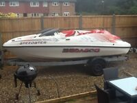 Seadoo speedster jet boat twin engine with trailer £5000