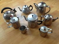 collection of teapots,some vintage.