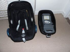 Maxi Cosy Car seat and isofix for sale