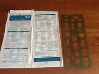 2 IBM drafting drawing templates sealed