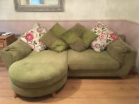 DFS Fabric 4 Seater Lounger Sofa, Armchair & Storage Ottoman URGENT