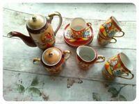 Oriental Tea Set, Shabby Chic, Collectible Tea Set