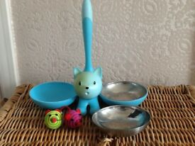 Alessi cat bowl and toys