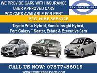 TOYOTA PRIUS HYBRID PCO CAR FOR H I R E & FOR U B E R