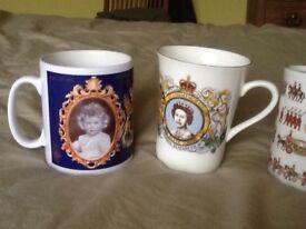 Collectable Royal mugs