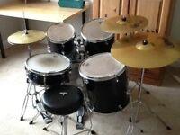Mapex Tornado Fusion drum kit and stool