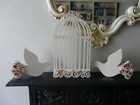 Wedding doves & Cage new £17.00 S13