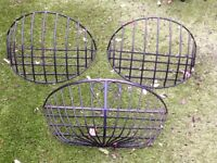 Wrought iron flower baskets