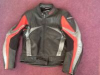 Men's Leather Motorcycle Jacket and Trousers
