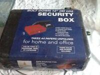 Black metal security box