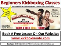FREE Trial Kickboxing classes for ages 4 up to adults