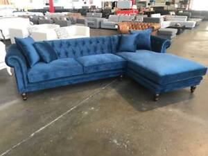 VELVET CHESTERFIELD CHAISE - AVAILABLE IN THREE COLOURS Epping Whittlesea Area Preview