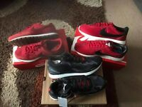 3 new pairs of trainers two nike and one reebok