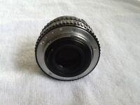 Pentax-A 28mm wide angle lens.