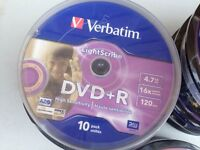 Verbatim DVD+R Lightscribe 10 packs - collect Eccles / Happisburgh