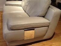Large 3 seater and large 2 seater leather sofas
