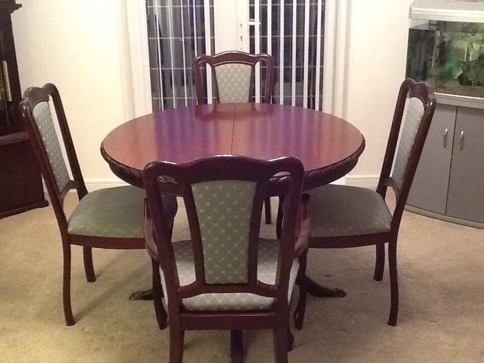 John Coyle Dining Room Table 4 ChairsMahogany Good Condition