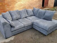 AMAZING DYLAN JUMBO CORD CORNER SOFA IS AVAILABLE IN MULTIPLE COLOURS IN STOCK