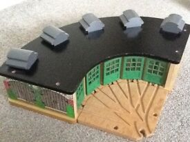 Wooden Tidmouth sheds from the original Thomas the tank,