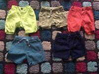 Boys shorts Zara, H&M 9-12, 12-18