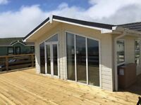 Luxury 2 Bedroom Lodge on Beach Front Location on 11 Month Park - most southern part of Scotland