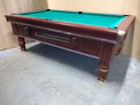 7x4 Slate Bed Coin Operated Pub Pool Table. New recover speed cloth and New Accessories - Delivery