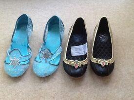 Girls Disney Store Dressing Up Shoes, Frozen Anna & Elsa, size 11-12
