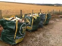 Tonne bags of firewood